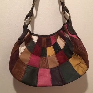 Lucky Brand Crescent Patchwork Hobo / Multi-Color
